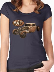 RAT - Side Pipes Women's Fitted Scoop T-Shirt