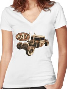 RAT - Semi style pipes Women's Fitted V-Neck T-Shirt