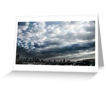 Skyline Echoes Greeting Card