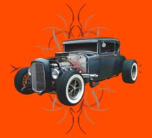 Pinstripe Hot Rod Kids Tee