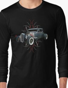 Pinstripe Hot Rod Long Sleeve T-Shirt