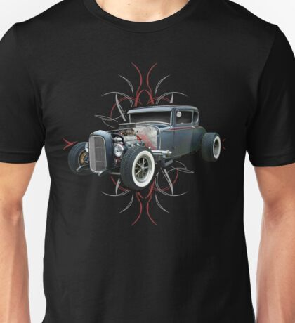 Pinstripe Hot Rod Unisex T-Shirt