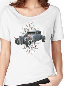 Pinstripe Hot Rod light Women's Relaxed Fit T-Shirt