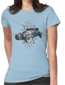 Pinstripe Hot Rod light Womens Fitted T-Shirt
