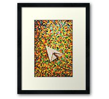 Paper Airplane 73 Framed Print