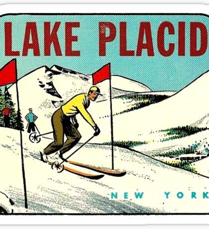 Ski Lake Placid New York Vintage Travel Decal Sticker