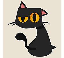 Sharp Black Cat Photographic Print