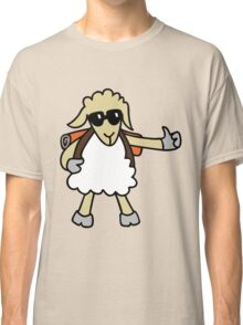 Hitchhiker new zealand sheep cartoon Classic T-Shirt