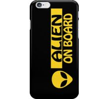 ALIEN ON BOARD iPhone Case/Skin