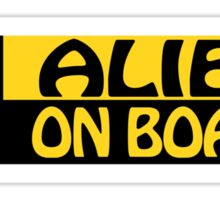 ALIEN ON BOARD Sticker