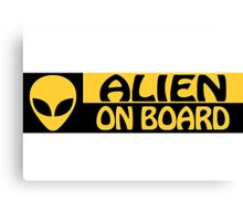 ALIEN ON BOARD Canvas Print