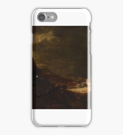Circle of Hercules Seghers  A country landscape with figures iPhone Case/Skin