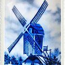 Blue Windmill by George Petrovsky