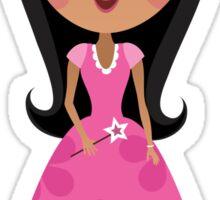 African american or asian princess sticker Sticker
