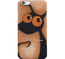 Stressie Cat Portrait iPhone Case/Skin