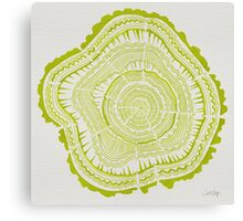 Chartreuse Tree Rings Canvas Print