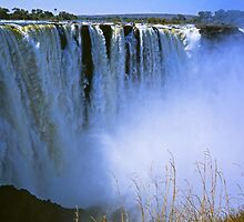 The Victoria Falls in Zimbabwe by Alex Cassels