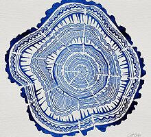 Navy Tree Rings by Cat Coquillette