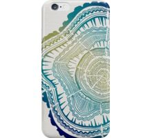 Tree Rings – Watercolor Ombre iPhone Case/Skin