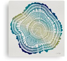 Tree Rings – Watercolor Ombre Canvas Print