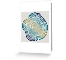 Tree Rings – Watercolor Ombre Greeting Card