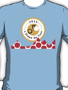 Red Polka Dot 2015 L'Etape du Tour Mountain Profile v2 T-Shirt