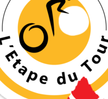 Red Polka Dot 2015 L'Etape du Tour Mountain Profile v2 Sticker