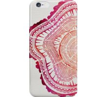 Tree Rings – Red Watercolor iPhone Case/Skin