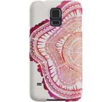 Tree Rings – Red Watercolor Samsung Galaxy Case/Skin