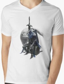 Artorias and sif. Mens V-Neck T-Shirt