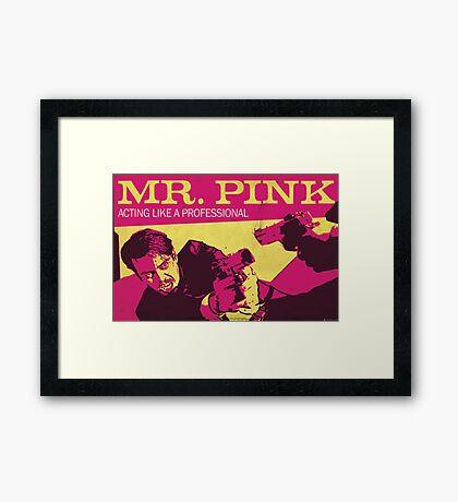 Reservoir Dogs, Mr Pink the Professional Framed Print