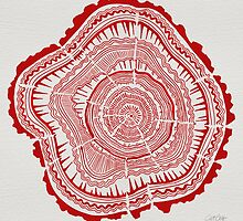 Red Tree Rings by Cat Coquillette