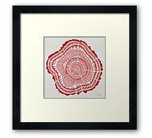 Red Tree Rings Framed Print