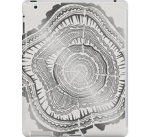 Silver Tree Rings iPad Case/Skin