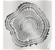 Silver Tree Rings Poster