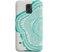 Turquoise Tree Rings Samsung Galaxy Case/Skin