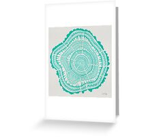 Turquoise Tree Rings Greeting Card