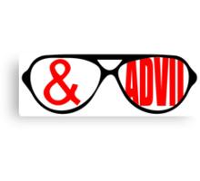 Sunglasses & Advil Canvas Print
