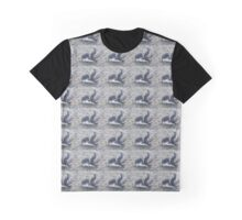 Sleepy Penguin Stretching And Yawning On The Beach Graphic T-Shirt