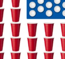 Beer Pong Drinking Game American Flag Beer T Shirts Funny Sticker