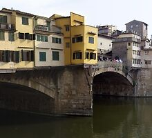 Bridge in Florence, Italy Panorama by John Carpenter