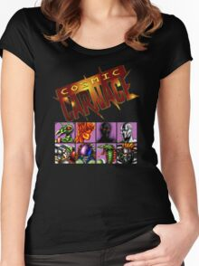 Cosmic Carnage (32X) Women's Fitted Scoop T-Shirt
