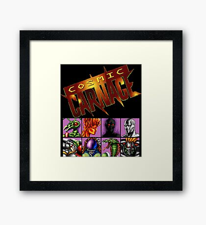 Cosmic Carnage (32X) Framed Print