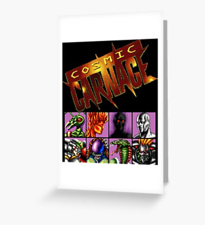 Cosmic Carnage (32X) Greeting Card