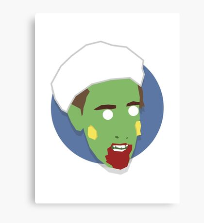 'Alan Partridge' Halloween Zombie Canvas Print