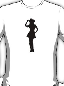 Western Theme - Cowgirl Silhouette T-Shirt