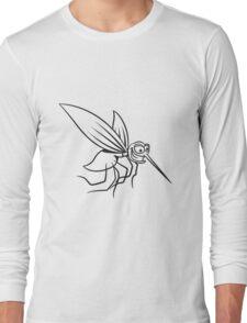 Mücke witzig stechen comic  Long Sleeve T-Shirt