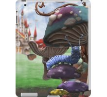 Caterpillar in the Wonderland Toadstool Forest iPad Case/Skin