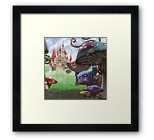 Caterpillar in the Wonderland Toadstool Forest Framed Print