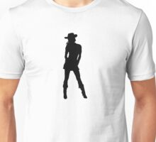 Western Theme - Cowgirl Silhouette Unisex T-Shirt